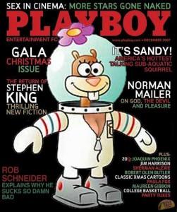 A következő havi Playboy címlapja