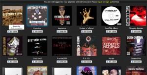 System of a Down albumlista Tuberadion